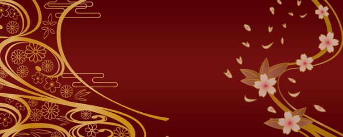 赤背景金装飾
