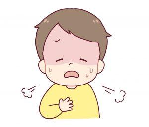 喘息の子ども