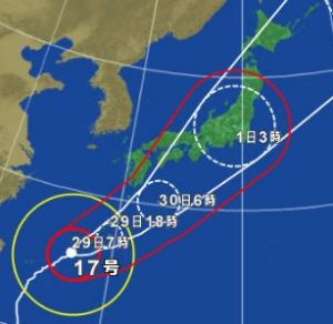 歴代台風の上陸数年度別一覧 過去最多は2004年の10回!