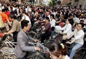 中国人口世界一位自転車