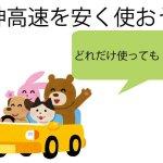 阪神高速が定額で使えます