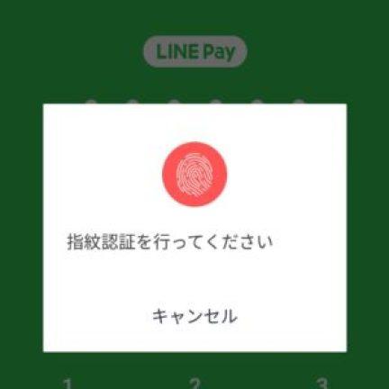 指紋認証のログイン画面