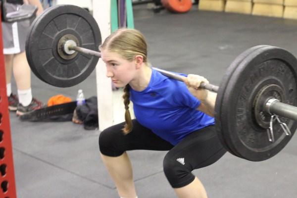 Julia hitting a heavy back squat!