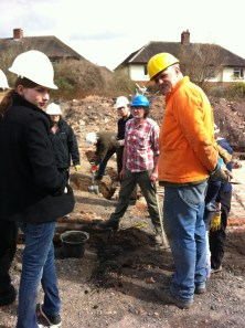 Allan from IAVG taking part in excavations at Ditherington Flax Mill