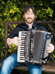 Ceilidh accordionist