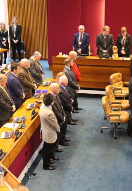City Council Chamber during the  ceremony.