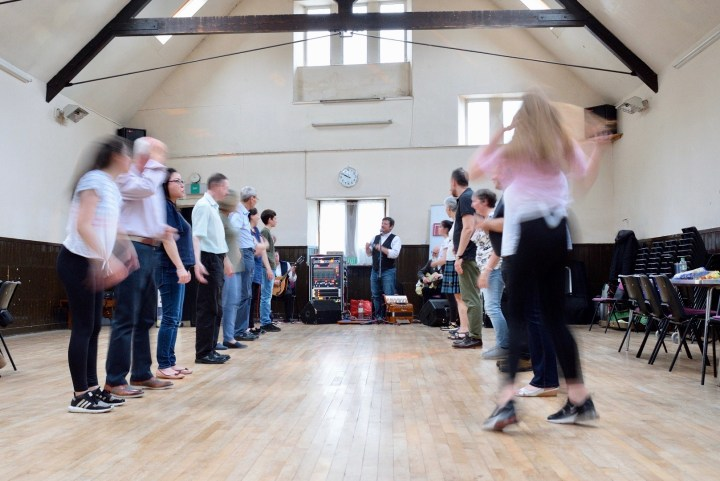Set dancing at a ceilidh