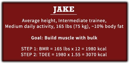 TDEE calories bulking