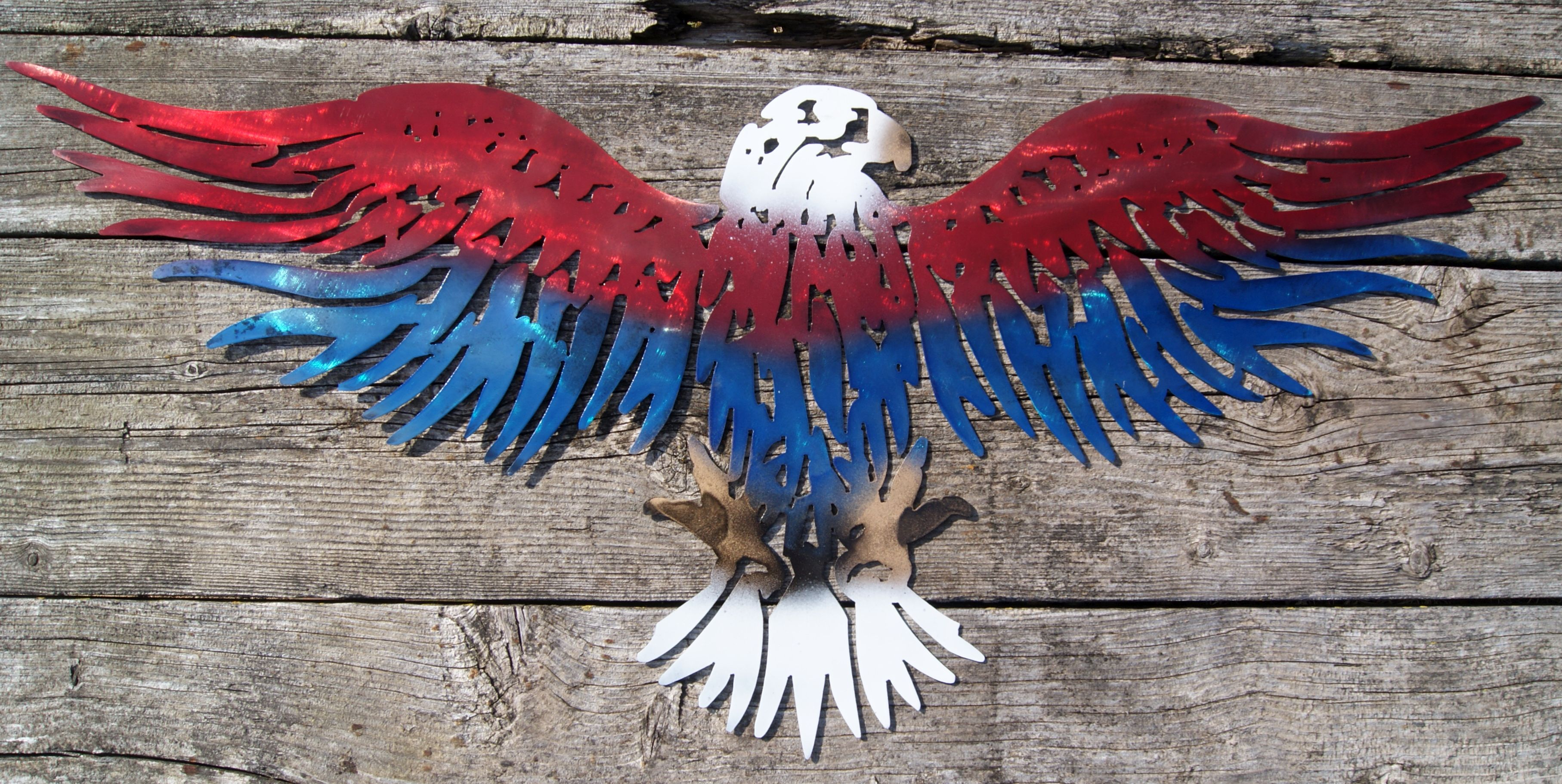 Steel Patriotic American Eagle Silhouette Modern Wall Art