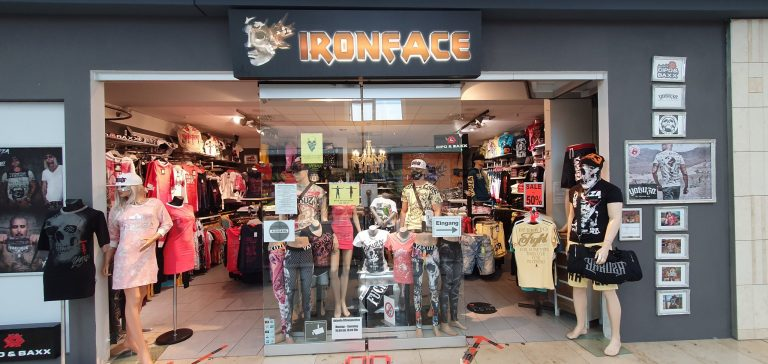 IRONFACE Streetwearstore Front