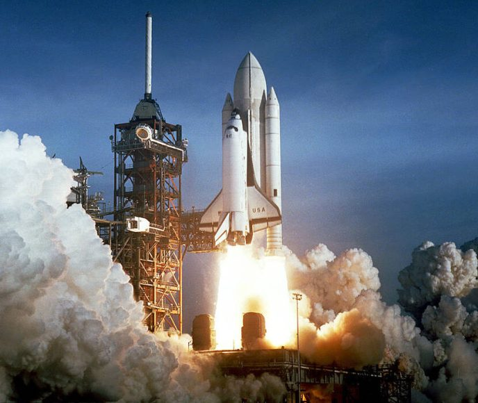 Launch of STS-1. Photo from NASA.