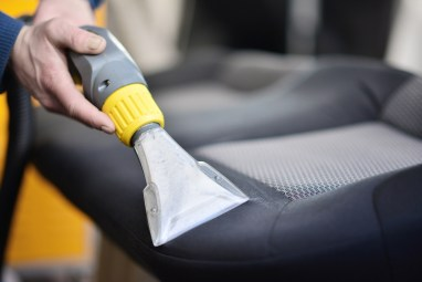 Car seat and interior cleaning
