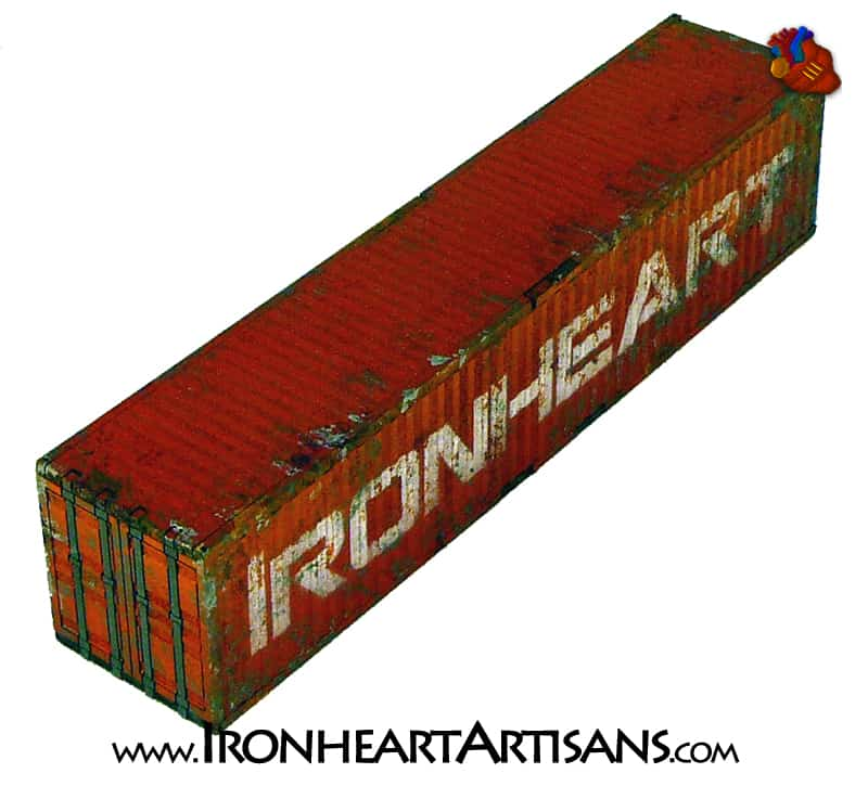 40ft Shipping Container 28mm scale Terrain - Ironheart Artisans
