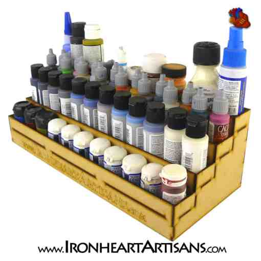 4 Tier Stepped Paint Rack