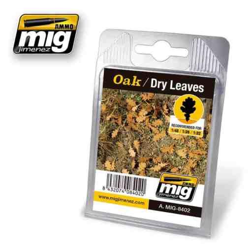 Oak - Dry Laser Cut Leaves