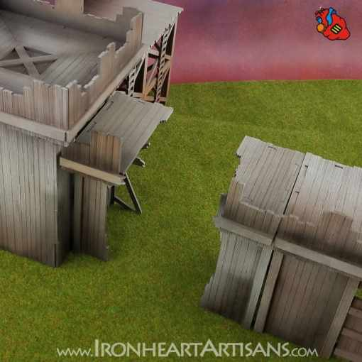 Modular Fort Broken Wall Section for Kings of War