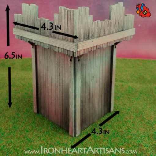 Modular Fort Corner for Kings of War