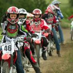 Rider in motocros summer camp