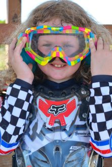 Motocross rider girl