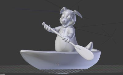 3D Model Border Buddy Boat