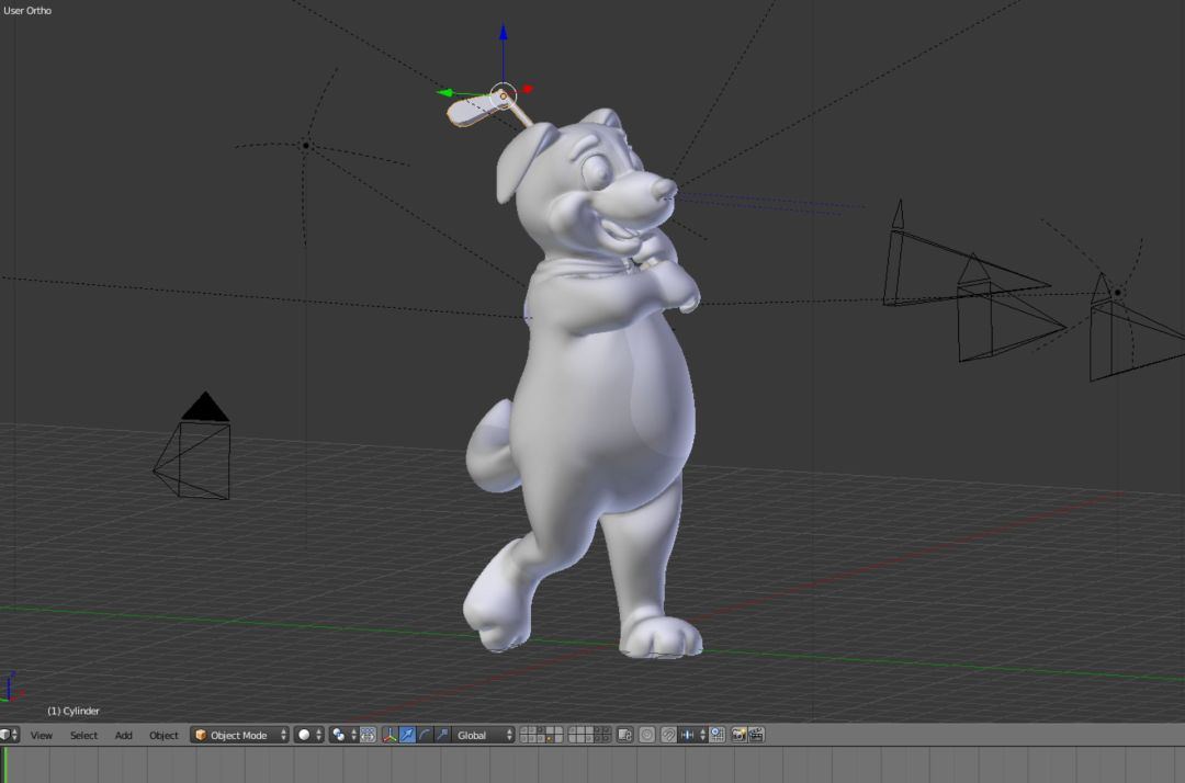 3D Model Border Buddy Golfing