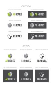 AB Homes Logo Design Variants