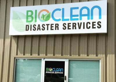 Cabinet Sign: Bioclean Disaster Services