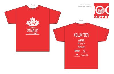 City of Lloydminster Canada Day 2017 Screen Print T Shirt