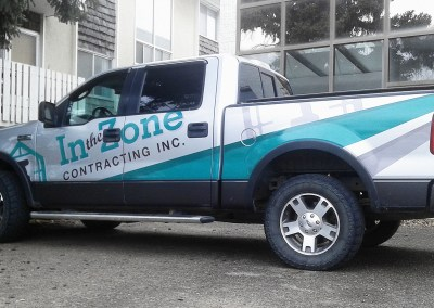 Truck Wrap: In the Zone Contracting