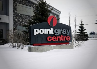 Monument Sign: Point Gray Centre