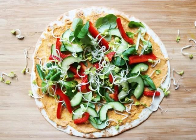 Iron Paradise Fitness Vegetarian Recipes Tortilla Hummus