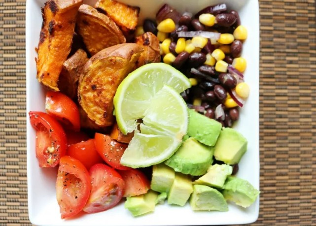 Iron Paradise Fitness Vegetarian Recipes Mexican Salad Sweet Potato