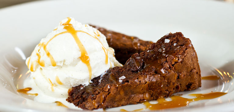 On the lunch dessert menu: bread pudding