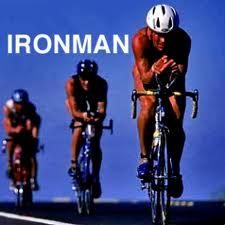 ironman spectator -three triathletes on the Ironman bike course