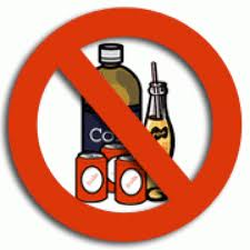 low carbohydrate food list  -no soda sign