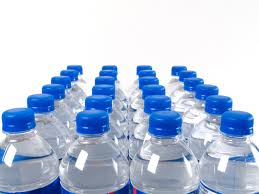 benefits of drinking water   -water bottles in a row