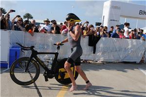 pro triathlete Lance Armstrong leads Ironman Texas bike