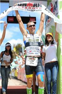Victor Del Corral winner of Ironman Lanzarote