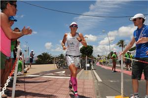 Michelle Vesterby leads in Ironman Lanzarote marathon