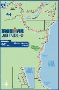 run course map for Ironman Lake Tahoe 2013