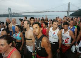 new york ironman age group results 2012-swim start