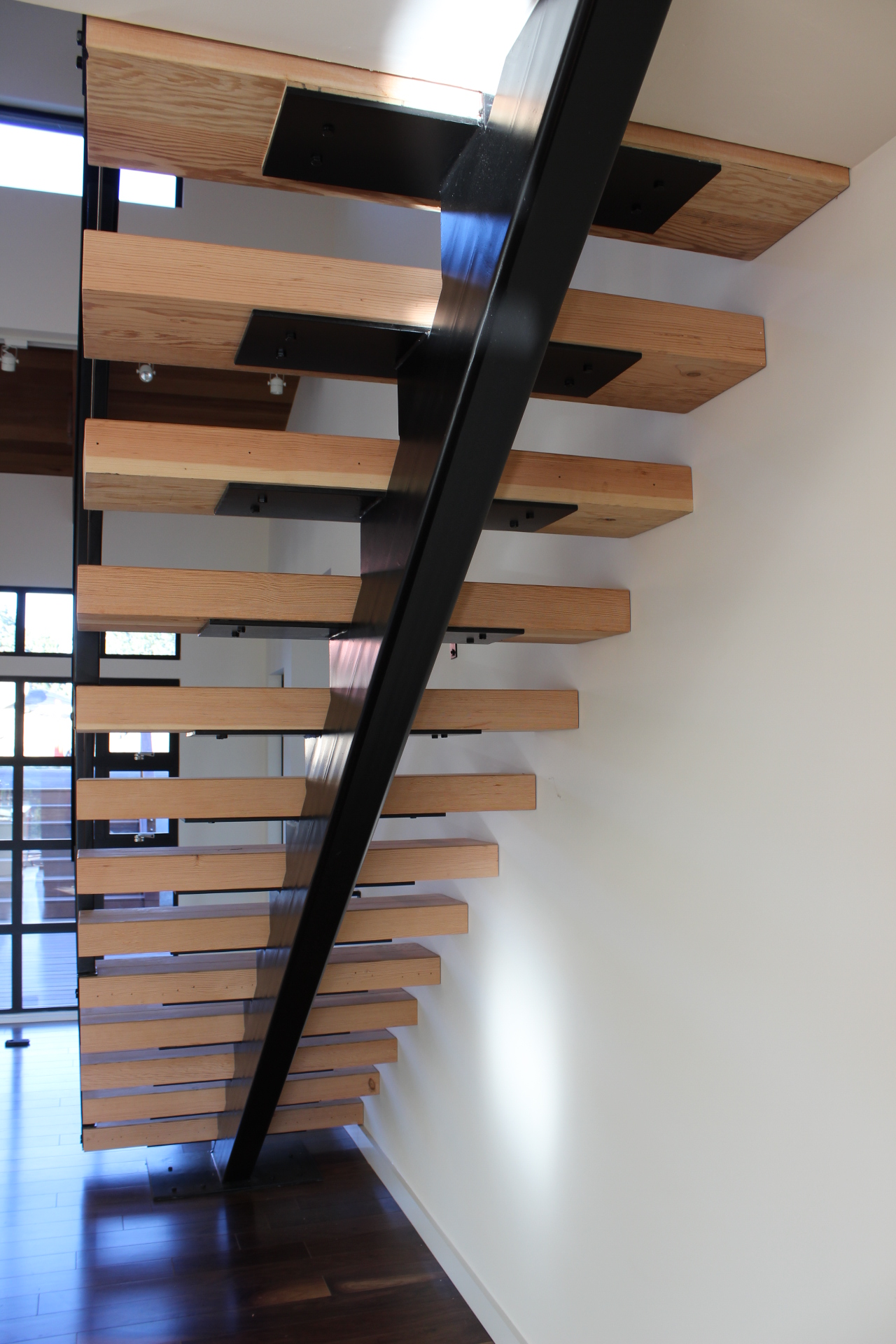 Floating Stairs And Rails Ironvine Construction