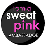 Sweat Pink ambassador badge SMALL