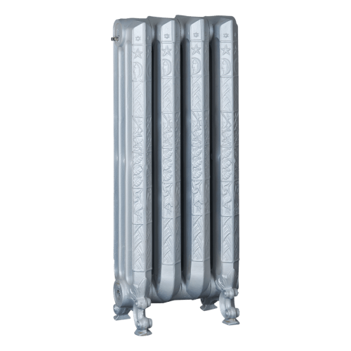Ironworks Radiators Inc. refurbished cast iron radiator Roxton in Oyster Metallic