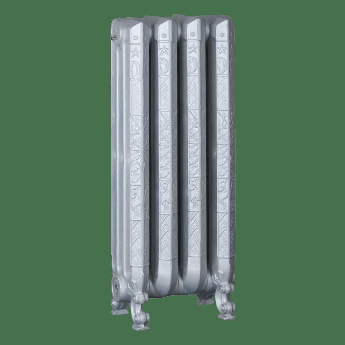 Ironworks Radiators Inc. refurbished cast iron radiator Roxton in Oyster Metallic
