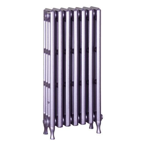 Ironworks Radiators Inc. refurbished cast iron radiator Alhart in Lilac metallic