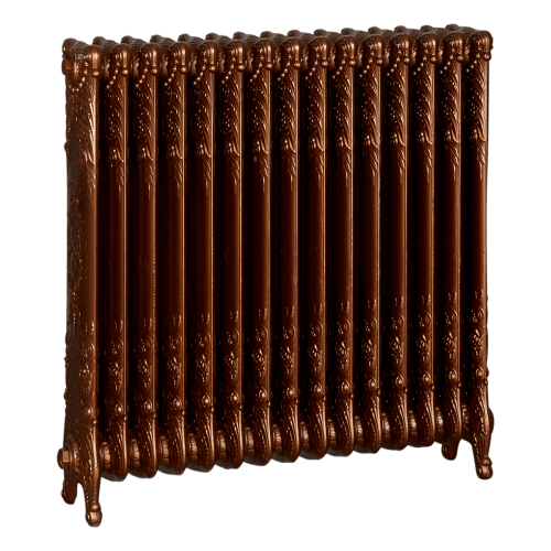 Ironworks Radiators Inc. refurbished cast iron radiator Rosethorn in Antique Bronze metallic