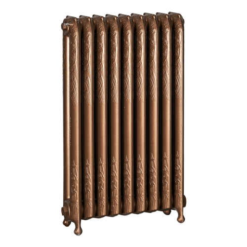 Ironworks Radiators Inc. refurbished cast iron radiator Bedford in Statuary Bronze