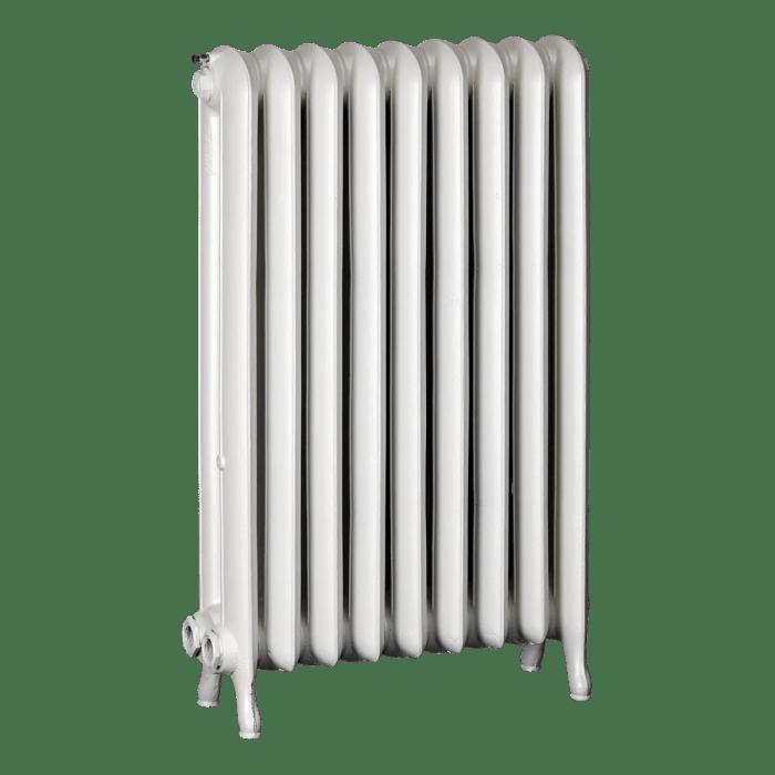 Ironworks Radiators Inc. refurbished cast iron radiator Blossomfield in Snowflake metallic