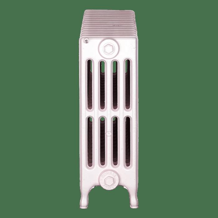 Ironworks Radiators Inc. refurbished cast iron radiator Chatsworth in Pink Pearl